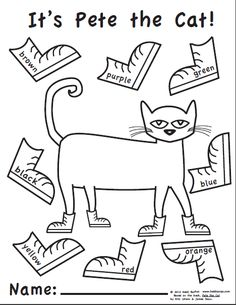 Pete the Cat Free Printables | http://www.heidisongs.com/Free_Downloads/assets/Pete_the_Cat-Color ...