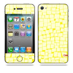 Quad noted Yellow iPhone skin by TAJTr
