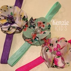 Floral Headbands by Kenzie Kids Boutique