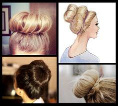 Sock bun! Definitely gonna have to try this. Hey Dad, can I borrow a sock?