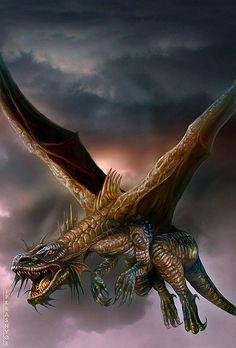 [Fantasy art] Dragon by patrik at Epilogue