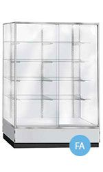 """Gray+70""""+Wall+Unit+Glass+Display+Case+-+Metal+Framed"""