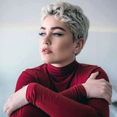 Best Short Pixie Haircut And Color Design For Cool Woman Short Curly Pixie, Short Brown Hair, Short Hair Cuts, Super Short Hair, Short Curls, Girl Short Hair, Thick Hair, Pixie Bob Haircut, Short Pixie Haircuts