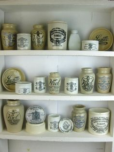 11827 - Collection Printed Antique Bottles Jar Pot Lid Virol Sainsbury Keiller