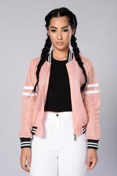 Dream Team Bomber Jacket - Pink/White