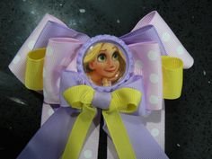 Rapunzel Hair Bow by SweetandCuteBows on Etsy, $10.00