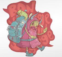 'Bon Voyage' Illustration