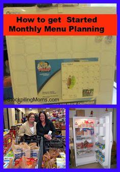How to get started Stockpiling 101 - Monthly Menu Planning http://www.stockpilingmoms.com/2010/09/stockpiling-101-monthly-menu-planning/?utm_campaign=coschedule&utm_source=pinterest&utm_medium=Stockpiling%20Moms&utm_content=Stockpiling%20101%20-%20Monthly%20Menu%20Planning