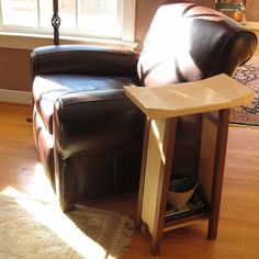 Our Shaped Table makes for a very unique end table and we can customize the height to be perfect beside your favorite chair.