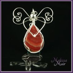 Carnelian Wire Angel
