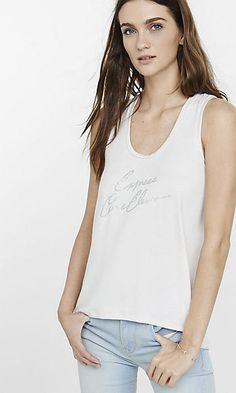 express one eleven graphic muscle tank