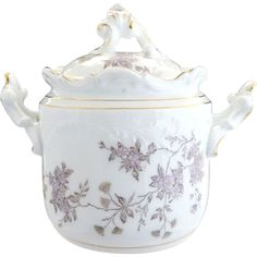 Antique Victorian cracker jar Rosenthal porcelain from victoriascurio on Ruby Lane