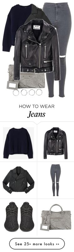 """""""Untitled #8203"""" by katgorostiza on Polyvore featuring Topshop, Acne Studios, Balenciaga, Boohoo and Marc by Marc Jacobs"""