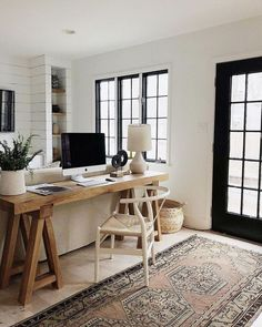 Trendy Home Office Table Desk Organizations Bureau Design, Design Desk, Small Space Office, Small Spaces, Small Home Office Desk, Mini Office, Small Space Design, Front Office, Home Office Design