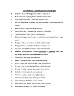 Printables Interjections Worksheet interjections worksheet circling part 1 advanced teaching pinterest worksheets