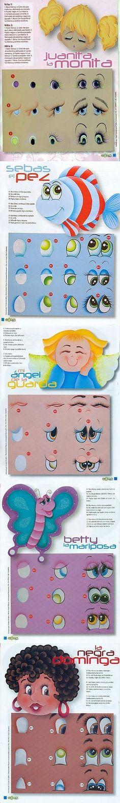 Как правильно нарисовать глаза кукле или игрушке. Как нарисовать разные выражение лица или морды / Мастер-класс
