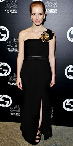 Jessica Chastain in Gucci gown - At the Gucci Award for Women in Cinema.  (September 2011)