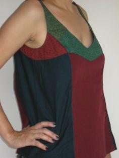 Blusa Sombra- patchwork