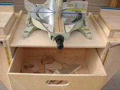 Folding Bench For Sliding Miter Saw