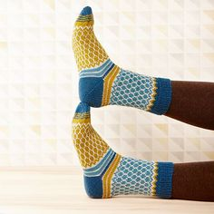 Soxx No. 11 pattern by Kerstin Balke Soxx No. 11 stranded colorwork knit socks pattern by Kerstin Balke Knitting Patterns Free, Knit Patterns, Free Knitting, Patterned Socks, Knitting Socks, Knit Socks, Quilt Kits, Knitting For Beginners, Yarn Crafts