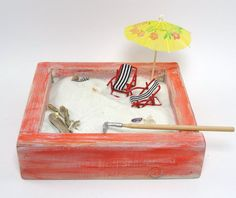 miniature zen beach garden kit 2 mini by EnchantingGardenArt on Etsy