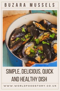 "Buzara mussels or mussels alla buzara are an excellent example of a simple, delicious, quick and healthy dish. To make a Buzara recipe takes less than 30 minutes!Buzara is a local name for ""stew"" and it is an integral part of the Adriatic part of Croatian cuisine. It is most often prepared with shells or crabs. In addition to the main component, only olive oil, garlic, wine, breadcrumbs, parsley are added."
