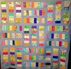 See on the My Quilt Infatuation blog: This quilt is by the blogger, Kelly Young.
