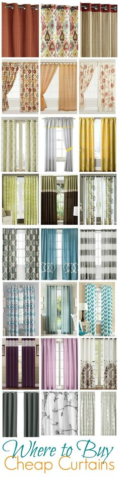 Curtains Ideas curtains for cheap : Sheet…that's cheap. ($4 Ready-Made Curtains) | Artworks, Craft ...