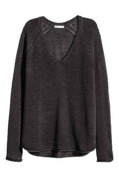 Knitted jumper - Dark grey - Ladies | H&M GB