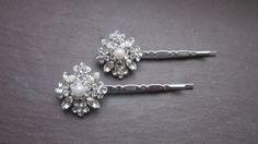 Hair clips bridal clips crystal clips bridal pins by TamarAndTalya