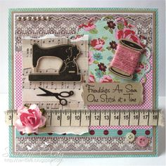 "By Sem. Uses ""Sew Nifty"" stamp set and dies by My Favorite Things."