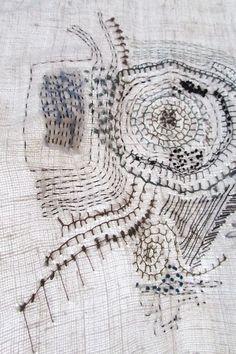 Beautiful. Like a map of ancient barrows. stitchbystitch.