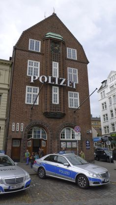 Die Davidwache in St. Pauli Hamburg, Germany. Most famous police station of Hamburg.