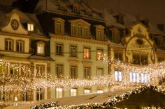 Christmas decorations in Mainz, Germany    via Joule W