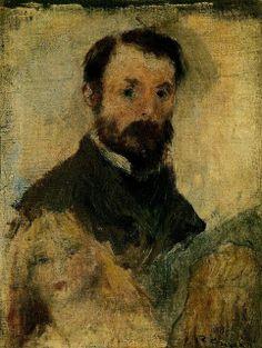 Auguste Renoir. Autorretrato, 1879.  19 x 14 cm. Museo de Orsay. París. Francia.