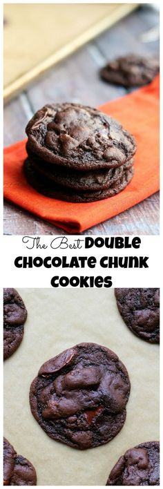 If you're a chocolate lover, these double chocolate cookies are for you! Super fudgy and chewy with large chunks of gooey chocolate in every bite.