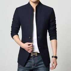 a703fa9d53a04f Single-Breasted Casual Blazer – The Elite Trends Herren Mode