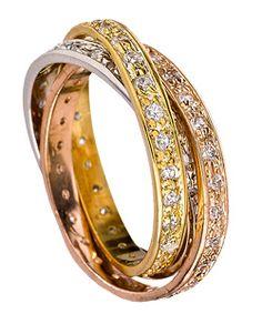 InterlockingTri-Color Ring