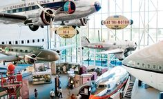 Inside the National Air and Space Museum. (From: Photos: The 20 Best-Kept Secrets of Washington, D.C. )