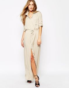 Image 4 of Mango Maxi Utility Shirt Dress