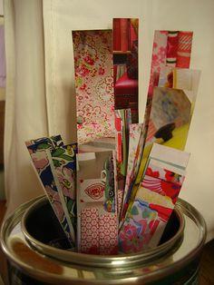 Homemade washi tape - genius!