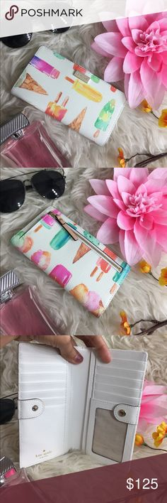 OFFERS?Kate Spade All Leather Ice Cream Wallet AuthenticExcellent shape. Minimal sign of use. Has slots for everything you need. It's a snap button regulat size wallet. Don't be shy to make an offer ****accessories not included**** kate spade Bags Wallets