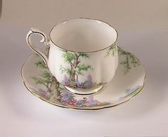 Vintage Royal Albert Bone China Greenwood Tree Tea Cup Saucer | eBay