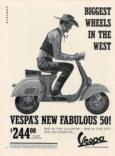 60s70sand80s: Vespa ad, 1964