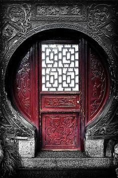 shanghai architecture old Red door. Cool Doors, Unique Doors, The Doors, Entrance Doors, Windows And Doors, Grand Entrance, Round Windows, Cave Entrance, Nachhaltiges Design