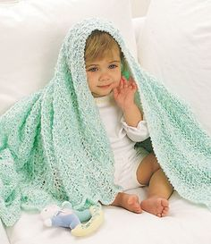 Minty Fresh Lace Baby Blanket. Gorgeous! Might even try to adjust measurements to make myself a lovely shawl..!!