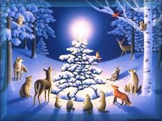 We have collection of most beautiful Christmas Nature wallpapers. Nature has extraordinary beauty in Christmas time. Having a Christmas Nature wallpaper on your desktop will always get you in good mood and many will like how your monitor looks like. Christmas Cover, Christmas Scenes, Christmas Animals, Christmas Art, Vintage Christmas, Cabin Christmas, Christmas Night, Christmas Holidays, Graphic 45