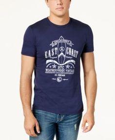 Weatherproof Vintage Men's Logo-Print T-Shirt - Blue XXL