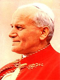 Pope John Paul II AKA Karol Józef Wojtyla Born: Birthplace: Wadowice, Poland Died: Location of death: Vatican City Cause of death: Heart Failure Remains: Interred, St. Paul 2, Pope John Paul Ii, Famous People That Died, Pape Jeans, Divine Mercy Sunday, Papa Juan Pablo Ii, Catholic Memes, Beautiful Blue Eyes, Heart Failure