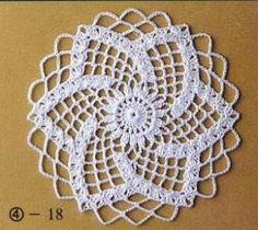 69 Ideas for crochet christmas doily link Free Crochet Doily Patterns, Crochet Symbols, Crochet Motifs, Crochet Circles, Crochet Chart, Crochet Squares, Lace Patterns, Thread Crochet, Crochet Designs